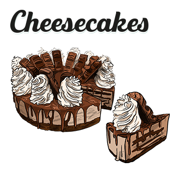 Cheesecakes chez factory and co